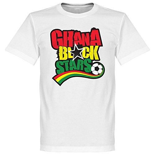 Ghana Nero Stelle maglietta, colore: bianco