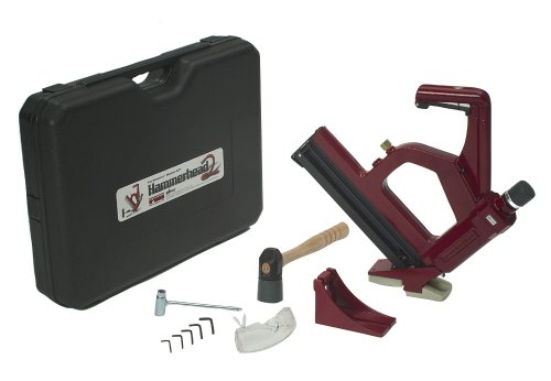 Porta-Nail 421P Pneumatic Floor Nailer with Both Line Nailer Shoe and Face Nailer Shoe