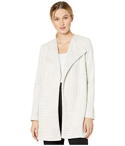 Calvin Klein Houndstooth Flyaway Jacket Latte/White XS (US 0-2)