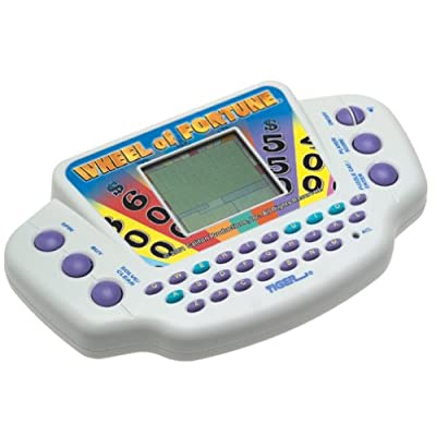 Hasbro Gaming Wheel of Fortune Handheld Electronic Game: Toys & Games