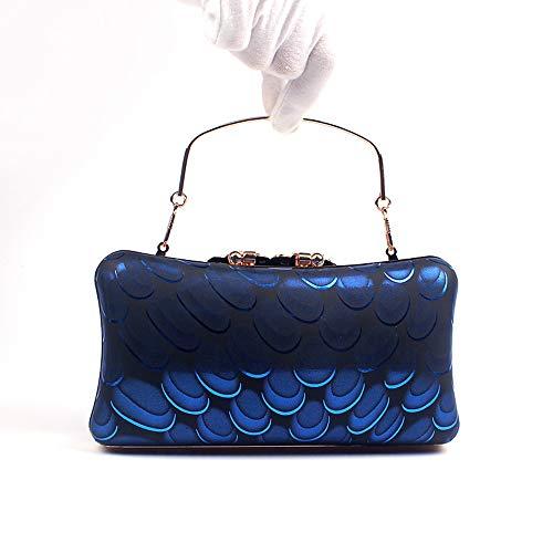 Femmes Sacs Capacité Soirée QZTG Cristal Grande À sac Sac Bleu à Royal Uréthane Vin Main Poly main Tout Doré ré Strass Fourre De Sacs PU zapIqa