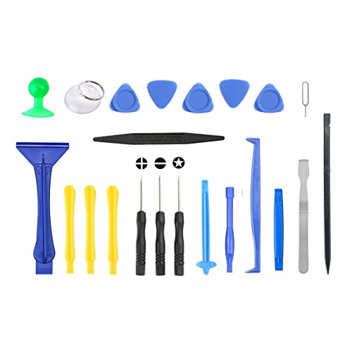 JIXIAO Exquisite Tools JF-8130 22 in 1 Crowbar Spudger Repairing Disassemble Open Tool Kit