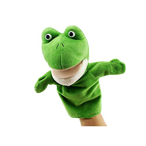 COSHAYSOO Hand Puppets Animal Friends Deluxe Kids with Working Mouth for Imaginative Play (Frog)