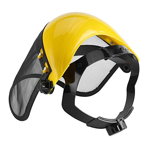 HANTERE Safety Helmet Hat Full Face Mesh Visor Logging Brushcutter Forestry Protection Mesh Safety Helmet Mower Helmet