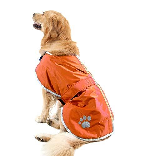 orange Autumn and Winter golden Retriever Labrador Huge Pet Dog Cotton Clothes with Reflective Tape,Size  L, Bust  6472cm, Neck  3944cm (color   orange)