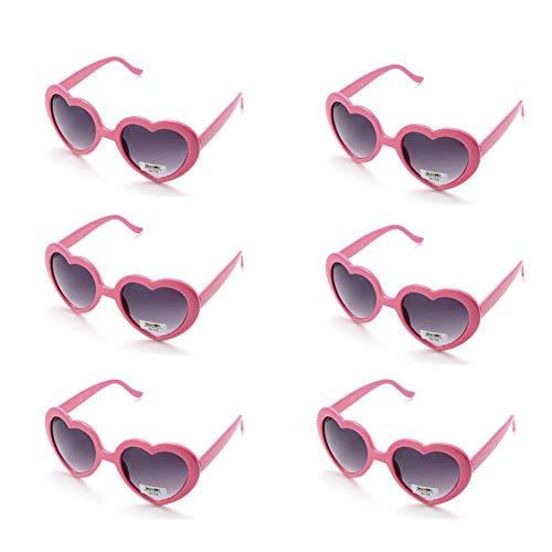6 Neon Colors Heart Shape Party Favors Sunglasses, Multi Packs (6-Pack Pink)]()