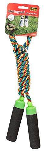 Idena 40096 – springtouw met zachte handgrepen, lengte ca. 2,3 m, ideaal voor uithoudingsvermogen en cardio-training, om…
