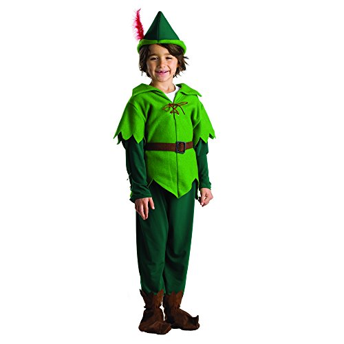 Peter Pan Costume - Size Small 4-6 (Boys Dress Up Ideas)
