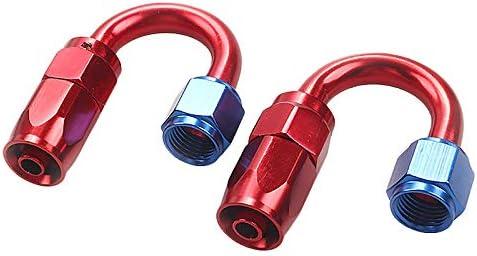 ACAMPTAR Tubes en Acier Inoxydable AN6 Kit DAdaptateur DExtr/éMit/é de Tuyau de Conduite de Carburant en Acier Inoxydable 6M Tress/é
