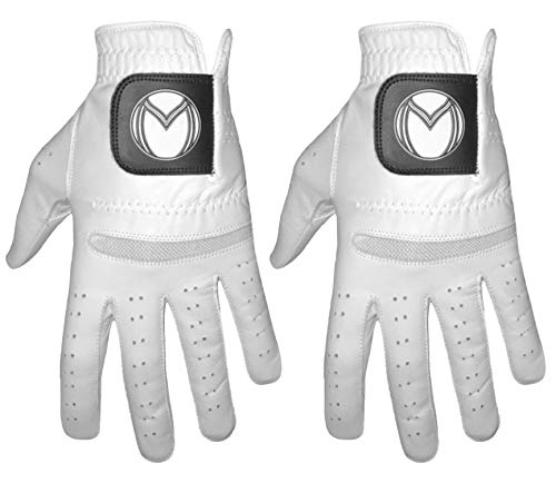 - Medalist Premium Cabretta Leather Golf Gloves (2 Pack) (Large, Worn on Left Hand)
