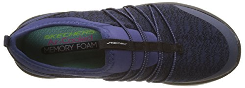 Skechers Synergy 2.0-Simply Chic, Baskets Enfiler Femme Bleu (Navy)