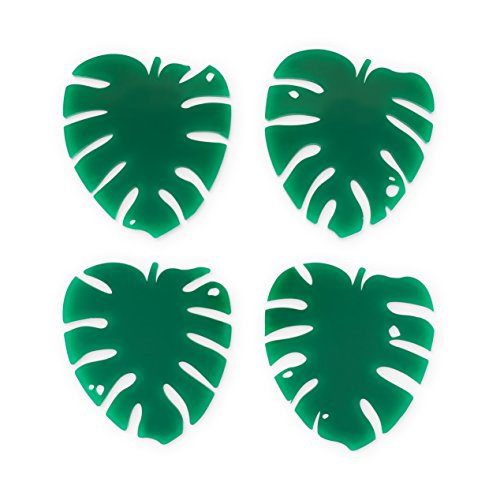 (Blush 6268 Lush Monstera Leaf Coasters, One Size, Multi Colored, Pack of 12 Sets)