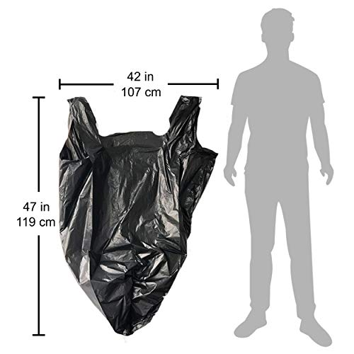 Reli. Trash Bags w/ Handles (55-60 Gallon) (150 Count), Double-Ply HandleStar Garbage Bags (Black), Handle Tie Can Liners with 55 Gallon (55 Gal) - 60 Gallon (60 Gal) Capacity by Reli. (Image #4)