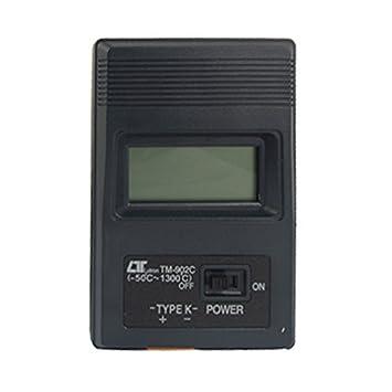 Termopar tipo K Sonda LCD Termômetro Digital Preto