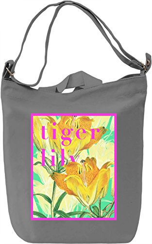 Lily Borsa Giornaliera Canvas Canvas Day Bag| 100% Premium Cotton Canvas| DTG Printing|