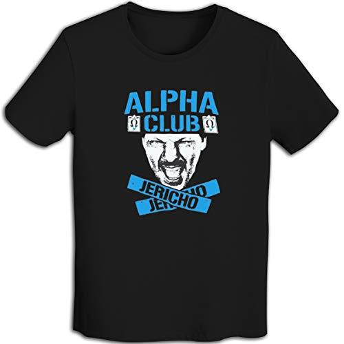 - Ethely Jericho Alpha Club Men's Ringer T-Shirt Short Sleeve Baseball T-Shirt Black