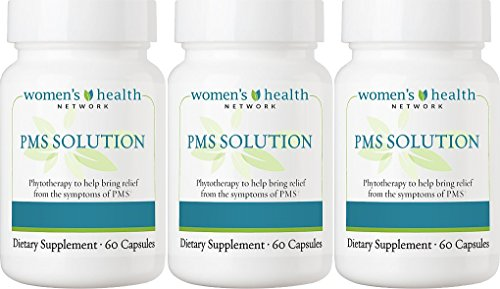 PMS Solution by Women's Health Network - Natural PMS Relief with Herbal Based Hormonal Support (3 Bottles) by Women's Health Network