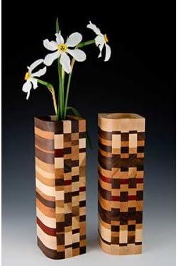 Wisconsinmade Wood Bud Vase – Mosaic Design