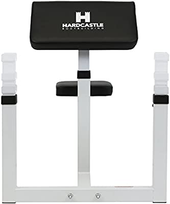 Panca scott  HardCastle   Panca Preacher Curl regolabile - allenamento bicipiti - bianco  B01M0RMTZH