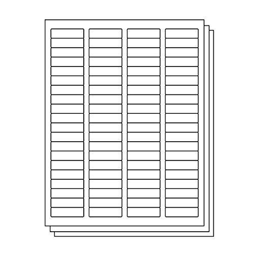 OfficeSmartLabels Rectangular 1/2 x 1-3/4 Return Address Labels for Laser & Inkjet Printers, 0.5 x 1.75 Inch, 80 per sheet, White, 12000 Labels, 150 Sheets -