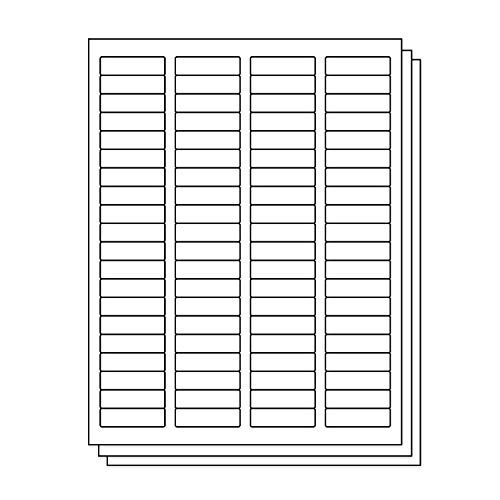 OfficeSmartLabels Rectangular 1/2 x 1-3/4 Return Address Labels for Laser & Inkjet Printers, 0.5 x 1.75 Inch, 80 per sheet, White, 12000 Labels, 150 -