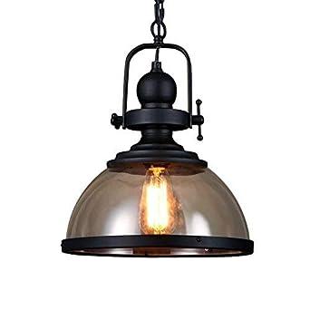 Retro Pendelleuchte Glassschirm Rund Design Vintage Kuche Lampe