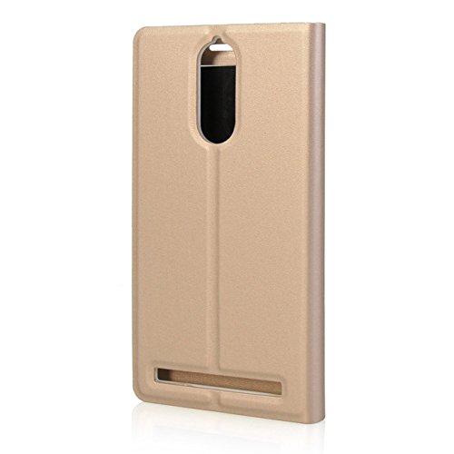 info for 96391 81ed9 Newlike Flip Cover for Lenovo Vibe K5 Note (Gold)