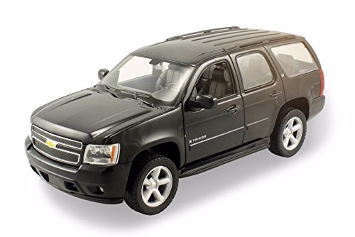 welly-2008-chevrolet-tahoe-suv-1-24-diecast-model-car-black