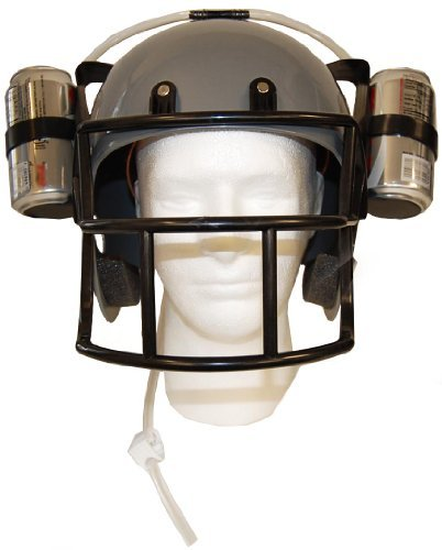 Football Beer Can Drinking Helmet Fun Party Game Hat Drink Dispenser (Grown Up Halloween Drinks)