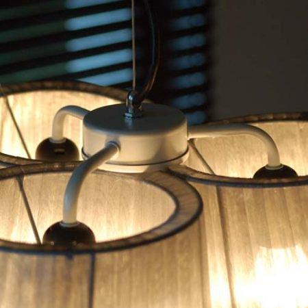 Lounge Zone Design Pendelleuchte Leuchte Hngelampe Hngeleuchte Pendellampe Deckenlampe Deckenleuchte Lampe TRIPLE Lampenschirm Organza Grau 3