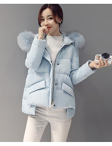 TT&SHANGYI Damen Daunen Mantel Einfach Aktiv Ausgehen Solide Gestreift Druck-Baumwolle Acryl Andere Polypropylen Langarm
