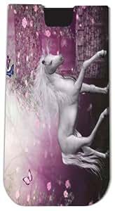 Rikki KnightTM White Unicorn on Pink Fairytale - Smart Phone Neoprene Protective Pouch for iPhone 4/4s/5/5s/5c, Motorola Moto X, Galaxy S3/S4/Note 3/Ace 2, LG Optimus Gpro/G2/L3/4X HD, Sony Xperia Z1S/U, HTC Droid/One/One X/Pro/mini, Blackberry G10/Z10, Ne