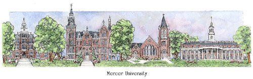Mercer University - Collegiate Sculptured Ornament by Sculptured Watercolor Ornaments