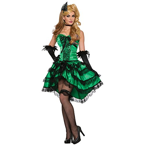 d Saloon Girl Costume, Green, STD ()