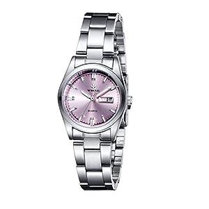 Wwoorr Quartz, Relojes Analógicos Moda Casual para Mujer con Banda de Acero Inoxidable 41DFfDxM78L
