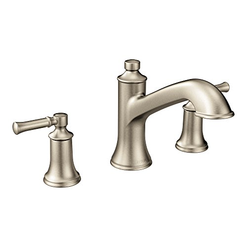 Moen T683BN Dartmoor Two-Handle High Arc Roman Tub Faucet, Brushed Nickel ()