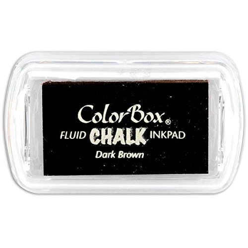 ColorBox Chalk Mini Ink Pad, Dark Brown - Fluid Chalk Ink Pad