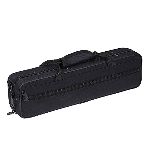 ammoon Water-resistant Gig Bag Box for Western Concert Flute with Adjustable Single Shoulder Strap Pocket Cotton Padded