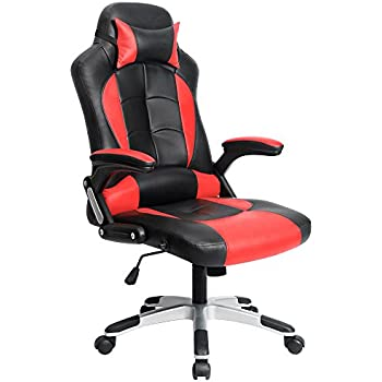 this item homall computer desk chair executive swivel leather office chair racing style task chair highback gaming chair red