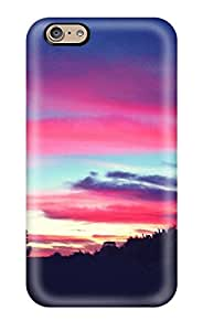 Iphone 6 Hard Back With Bumper Silicone Gel Tpu Case Cover Pretty Sunset