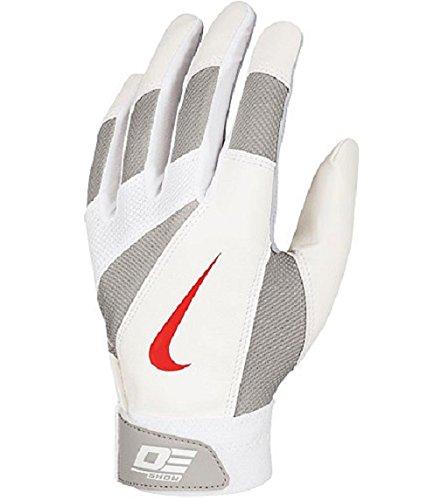 Nike Young Men's Diamond Elite Show Batting Gloves, Bone/White/Pewter Gray, Small