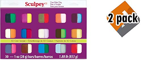 Sculpey III Oven Bake Clay Sampler 1oz, 30/pkg, 2 Pack by Sculpey (Image #6)