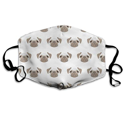 Pugs Brown and White Mouth Mask Unisex Anti-dust
