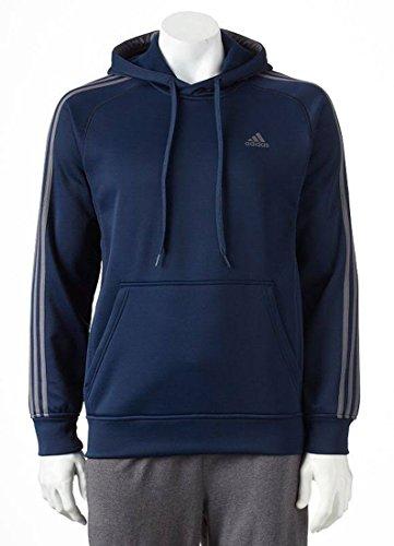 New Adidas Men's Tech Fleece Pullover Hoodie Collegiate Navy/Granite Grey Large