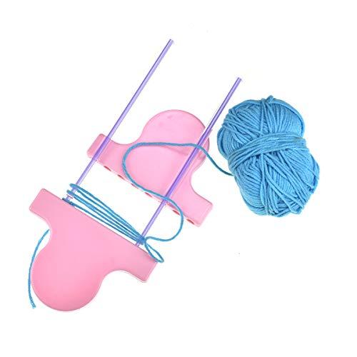 - Crochet Flower Hand Knitting Loom Wool Knit Tool for Scarf Hair Lace Pin Craft Maker Set AROYEL DIY Craft Yarn Weaving Knitting Accessories