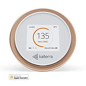 Kaiterra Laser Egg+ Chemical: Indoor Air Quality Monitor (Tracks PM2.5, Fine Dust, VOCs, Temperature, and Humidity)