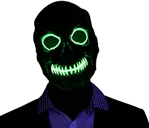 ranpo El Wire Light Up LED Mask Light Green Neon Rave Horrific Cosplay Party Halloween Costume WAS £10.99 NOW £5.49 w/code T5JIVS9Q @ Amazon