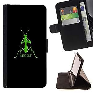 Mantis Praying Atheist Funny Clever - Modelo colorido cuero de la carpeta del tirón del caso cubierta piel Holster Funda protecció Para Sony Xperia Z3 D6603
