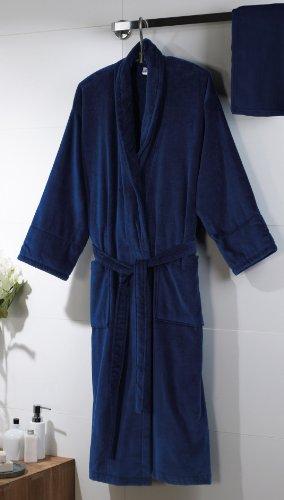 Jassz de velur de baño robe-velours azul marino