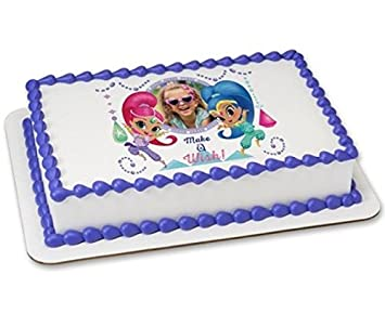 Amazoncom Shimmer And Shine Make A Wish Edible Cake Picture Frame